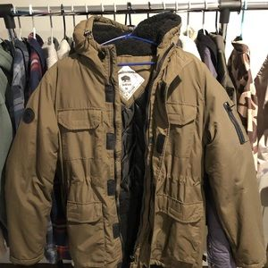Bellfield Clothing Olive Parka M